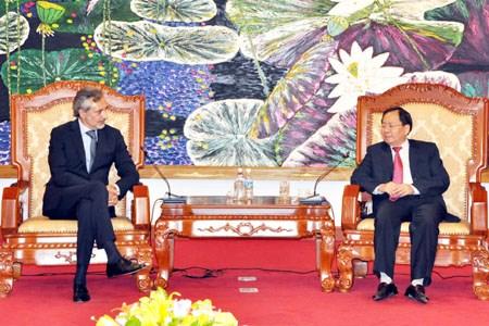 Thứ trưởng Đỗ Hoàng Anh Tuấn tiếp Đại sứ Italia tại Việt Nam