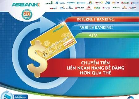ABBank tham gia mạng lưới chuyển tiền liên ngân hàng qua thẻ