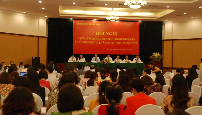 Cục Thuế Hà Nội đối thoại với doanh nghiệp