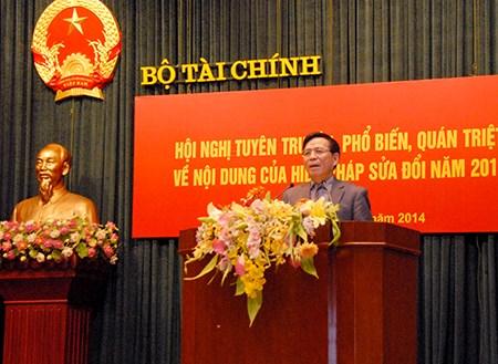 Bộ Tài chính tổ chức Hội nghị tuyên truyền, phổ biến quán triệt về nội dung của Hiến pháp sửa đổi năm 2013