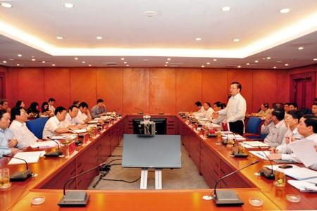 Đoàn công tác Trung ương làm việc với Bộ Tài chính về thực hiện Nghị quyết Trung ương 6 khóa X