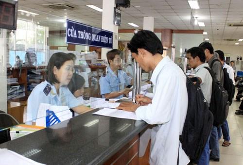 Quy trình thanh toán thuế được lập chứng từ tại Cổng thanh toán điện tử hải quan