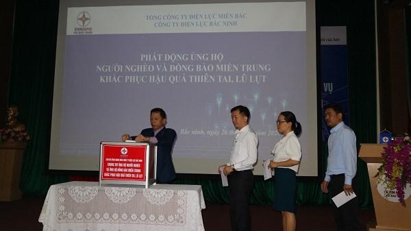 Công ty Điện lực Bắc Ninh phát động ủng hộ người nghèo và đồng bào miền Trung