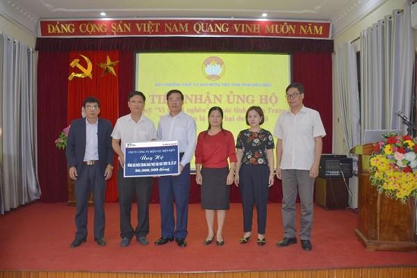 Công ty Điện lực Điện Biên quyên góp ủng hộ đồng bào miền Trung