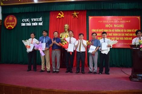 Hợp nhất Chi cục Thuế thành Chi cục Thuế khu vực trực thuộc Cục Thuế tỉnh Thừa Thiên Huế