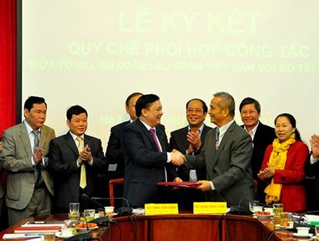 Tăng cường phối hợp công tác giữa Bộ Tài chính và Tổng Liên đoàn Lao động Việt Nam