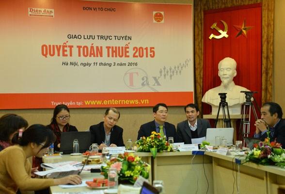 Giao lưu trực tuyến Quyết toán thuế 2015