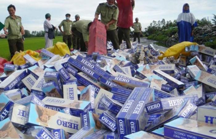 Bắt giữ 3 vụ vận chuyển thuốc lá lậu từ Campuchia vào Việt Nam