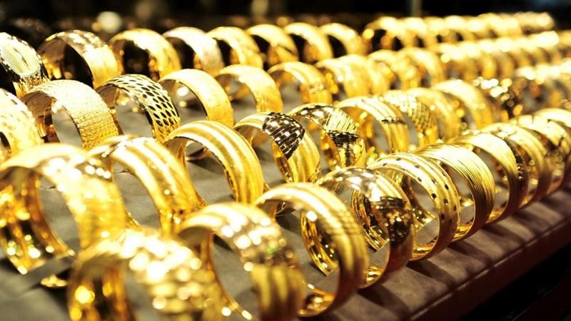 Giá vàng trong nước sáng nay dập dìu tăng, giảm