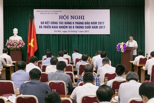 Đảng bộ Bộ Tài chính: Nhiều kết quả tích cực trong công tác xây dựng Đảng 6 tháng đầu năm