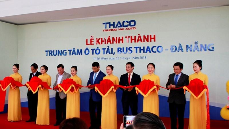 Thaco khánh thành Trung tâm ô tô tải, bus kiểu mẫu