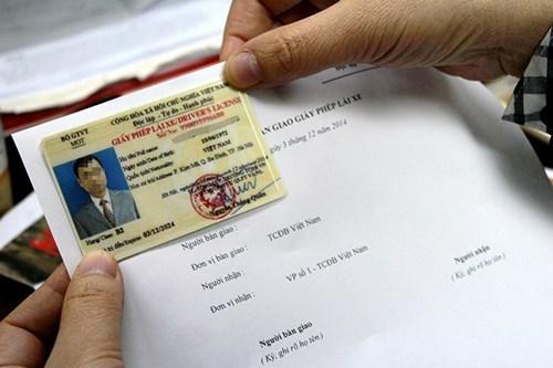Có thể kê khai hồ sơ trực tuyến để đổi giấy phép lái xe