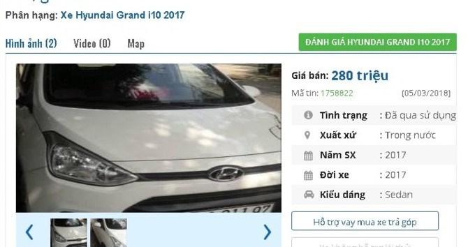 Ô tô đời 2017 rao bán giá tầm 300 triệu: Giật mình giá rẻ