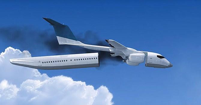 """Phát minh máy bay """"thằn lằn"""" tự tách rời khi gặp nạn"""