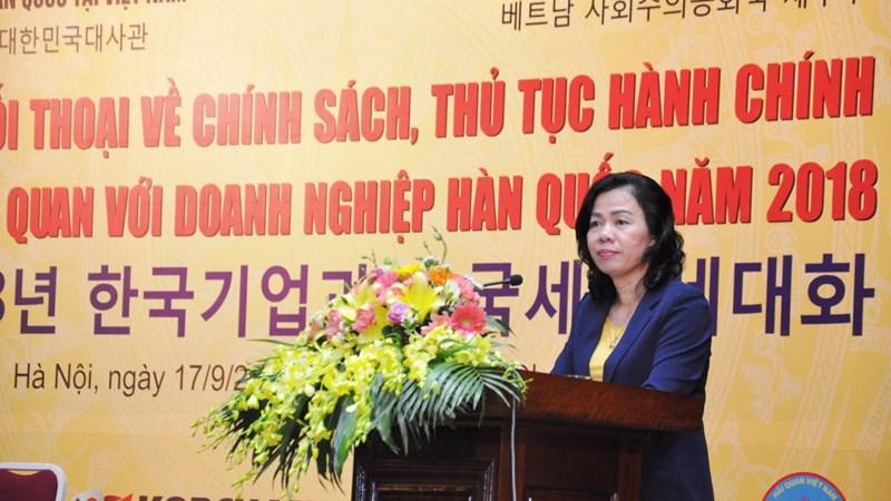 Bộ Tài chính luôn lắng nghe ý kiến từ các doanh nghiệp Hàn Quốc để hoàn thiện chính sách thuế, hải quan
