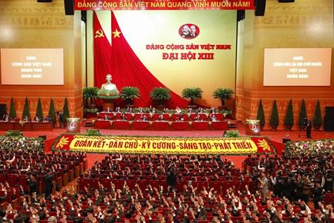 Đại hội đại biểu toàn quốc lần thứ XIII của Đảng bắt đầu chương trình làm việc chính thức