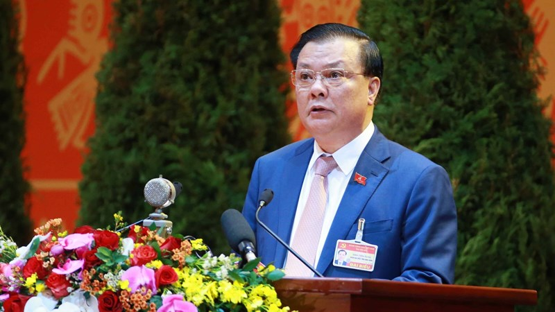 Bộ trưởng Bộ Tài chính trình bày tham luận tại Đại hội Đảng đại biểu toàn quốc lần thứ XIII của Đảng