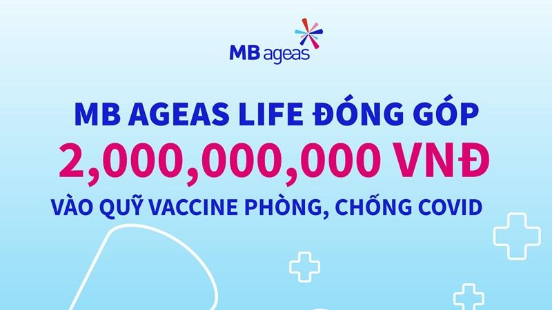 MB Ageas Life ủng hộ 2 tỷ đồng cho Quỹ vắc xin phòng, chống Covid-19