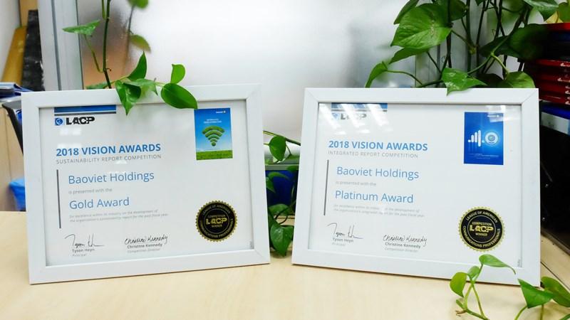 Bảo Việt đạt giải Bạch kim Cuộc bình chọn  Báo cáo thường niên của LACP