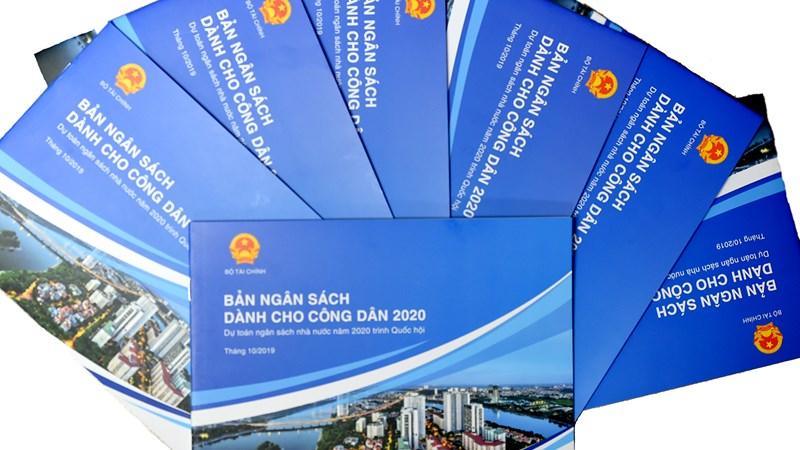 """Công bố """"Báo cáo ngân sách dành cho công dân về Dự toán NSNN năm 2020 trình Quốc hội"""""""