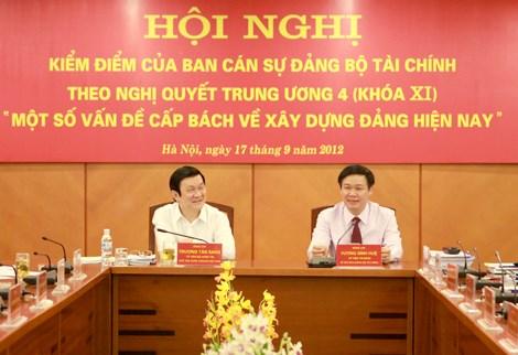 Ban Cán sự Đảng Bộ Tài chính kiểm điểm tự phê bình và phê bình theo Nghị quyết Trung ương 4