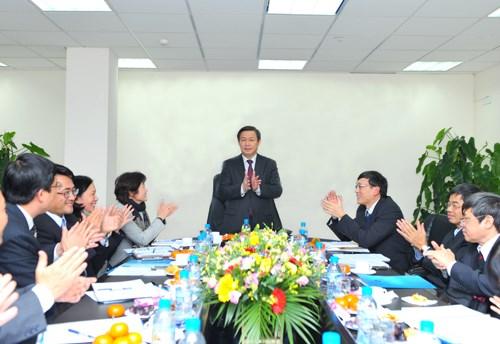 Bộ trưởng Vương Đình Huệ làm việc với Trung tâm Lưu ký Chứng khoán Việt Nam