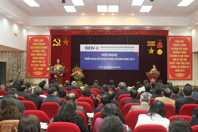 BIDV triển khai kế hoạch kinh doanh năm 2013