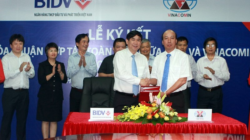 BIDV và VINACOMIN ký Thỏa thuận hợp tác toàn diện giai đoạn 2013-2018