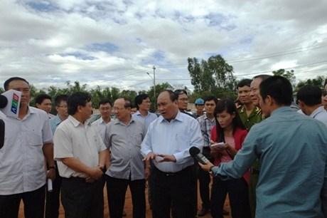 Phó Thủ tướng Nguyễn Xuân Phúc đôn đốc công tác giải phòng mặt bằng dự án mở rộng Quốc lộ 1A