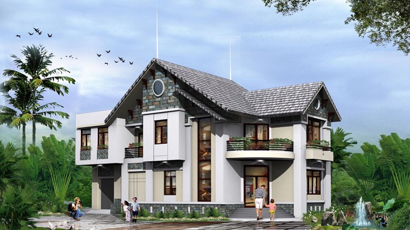 Ngoại hình ngôi nhà đẹp theo khoa học phong thủy