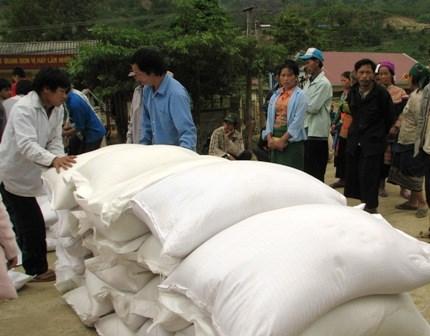 Bộ Tài chính hỗ trợ gạo cho tỉnh Cao Bằng