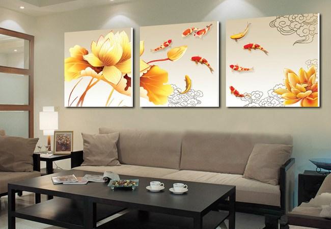 Cách chọn tranh thu hút năng lượng tốt cho phòng khách