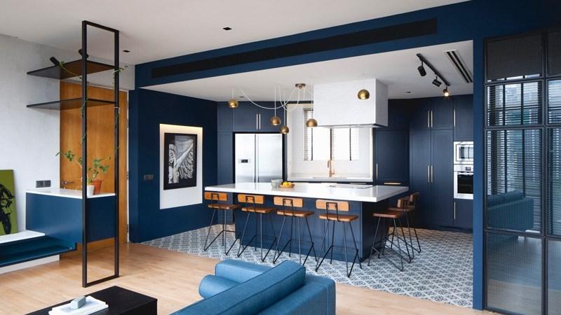 Xu hướng thiết kế nội thất hiện đại với màu sắc đậm