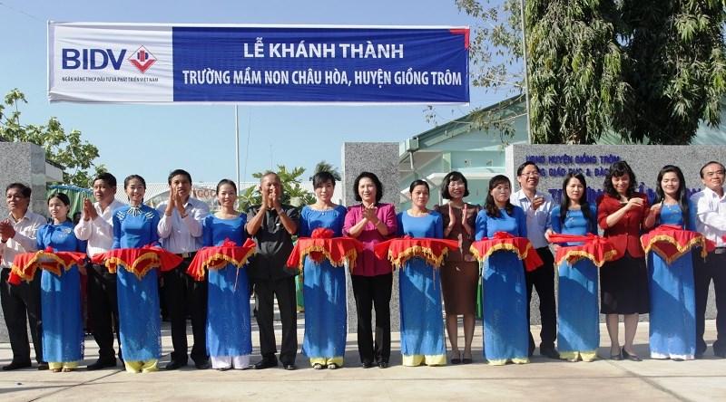 BIDV khánh thành, bàn giao trường mầm non tại tỉnh Bến Tre