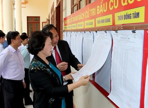 Kiểm tra công tác bầu cử tại một số địa phương