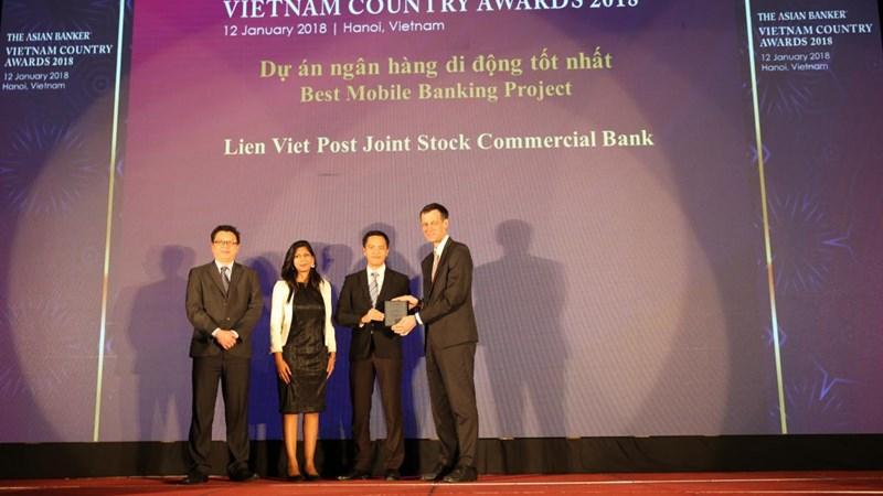Ví Việt của LienVietPostBank được Giải thưởng Dự án Ngân hàng Di động Tốt nhất Việt Nam.