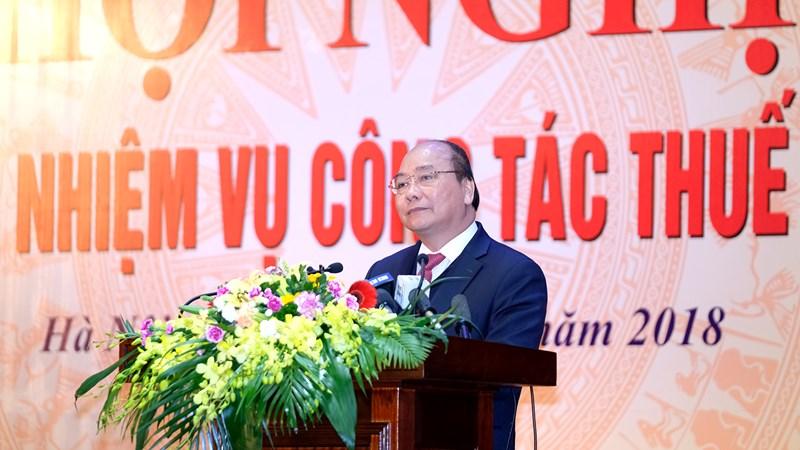 """Thủ tướng Nguyễn Xuân Phúc """"khen"""" 5 kết quả nổi bật của ngành Thuế"""