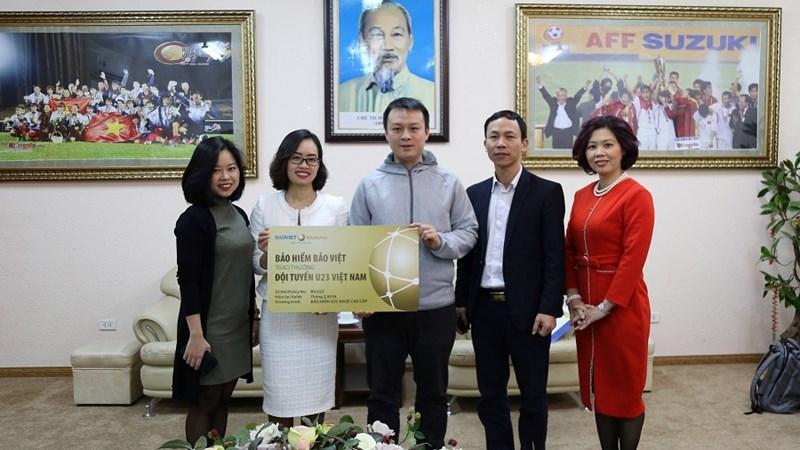 Bảo hiểm Bảo Việt chính thức trao thưởng cho Đội tuyển U23 Việt Nam