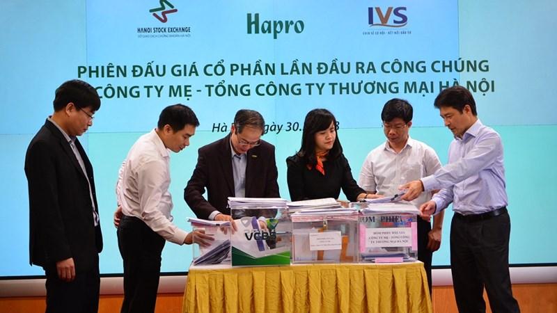 346 nhà đầu tư đã mua hết toàn bộ cổ phần đấu giá của Hapro