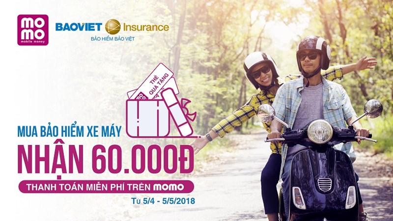 Bảo hiểm Bảo Việt cung cấp dịch vụ Bảo hiểm Xe máy trên ứng dụng Momo