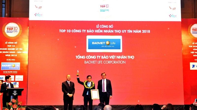 Bảo Việt Nhân thọ dẫn đầu Top 10 công ty bảo hiểm nhân thọ uy tín nhất Việt Nam 2018