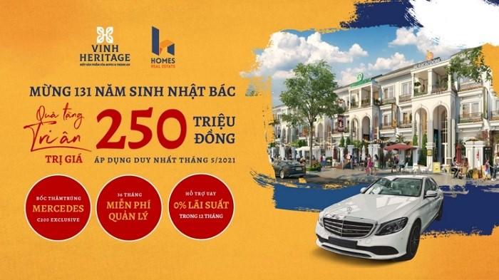 Vinh Heritage cho ra mắt dòng shophouse 107m2 giá siêu hấp dẫn