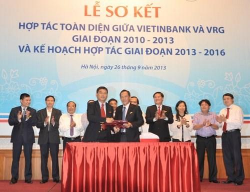 VietinBank và VRG ký kết thỏa thuận hợp tác toàn diện