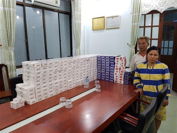 Hải quan Mộc Bài bắt giữ 2.440 bao thuốc lá nhập lậu