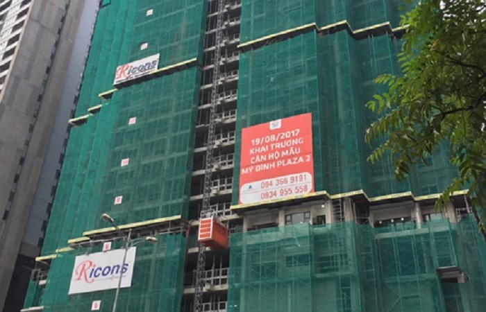 Mỹ Đình Plaza 2 ghi điểm nhờ tiến độ xây dựng vượt trội