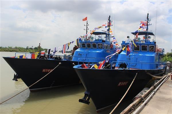 Tổng cục Hải quan nhận bàn giao 2 tàu cao tốc HQ- 120