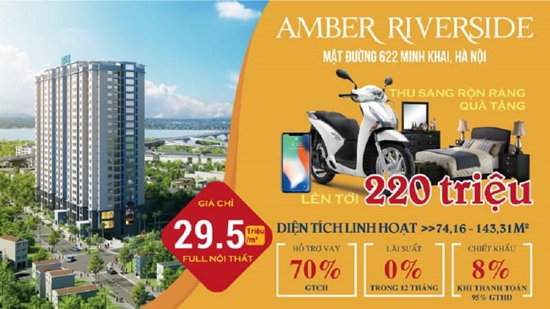 Thu sang rộn ràng quà tặng khi mua căn hộ Amber Riverside