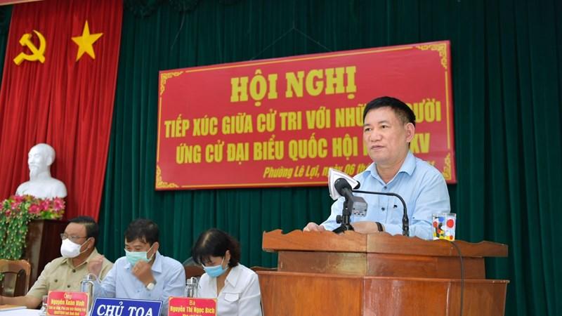 Chùm ảnh Bộ trưởng Bộ Tài chính Hồ Đức Phớc tiếp xúc cử tri tại TP. Quy Nhơn, tỉnh Bình Định