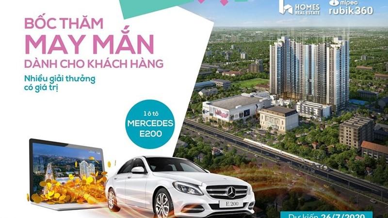 Cơ hội trúng xe Mercedes E200 khi đặt mua căn hộ Mipec Rubik360
