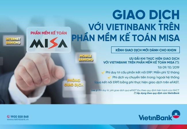 VietinBank đẩy mạnh kết nối ngân hàng điện tử trên phần mềm kế toán